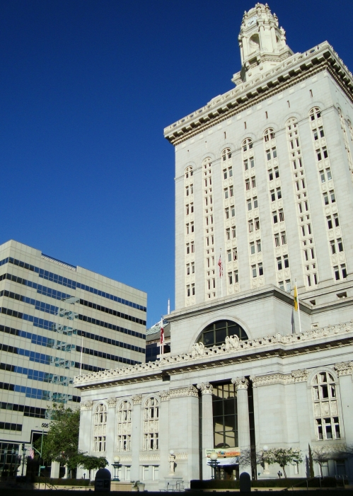 Oakland City Hall; with my office in the background (505)